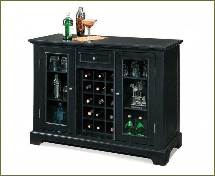 Black Liquor Cabinet Home Furniture Design