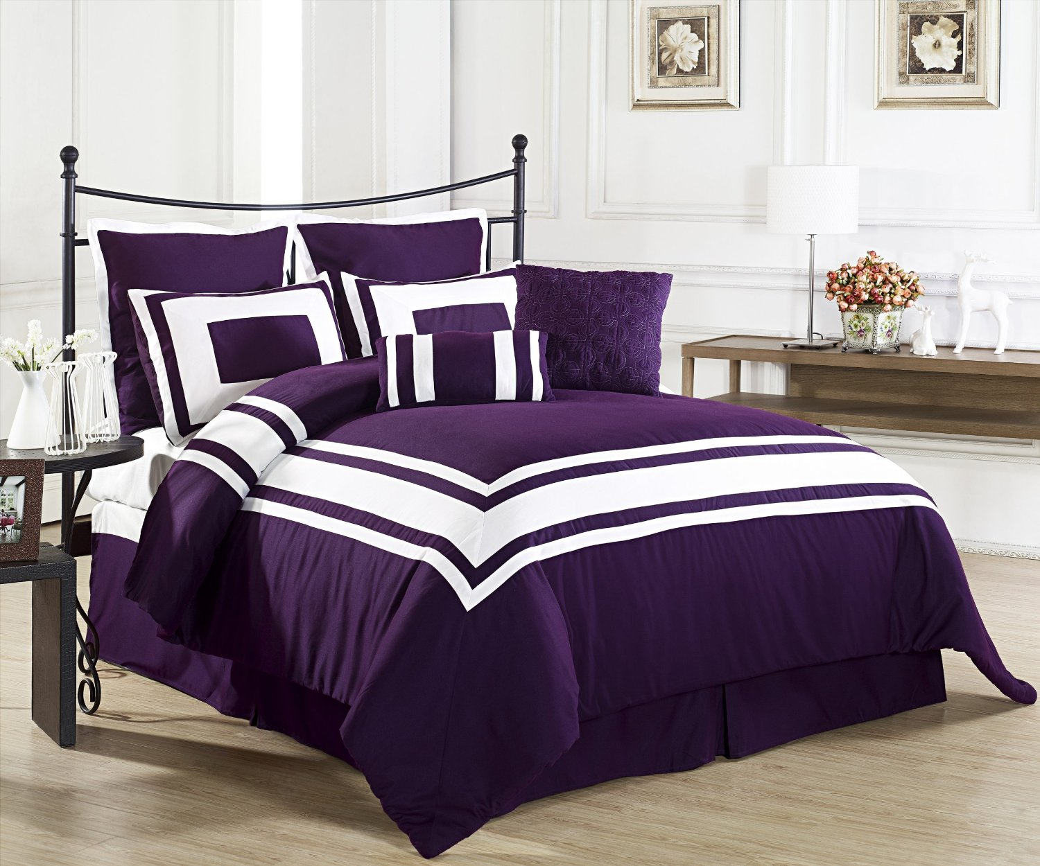 purple bedroom sets purple bedding sets tone for the season home 12972