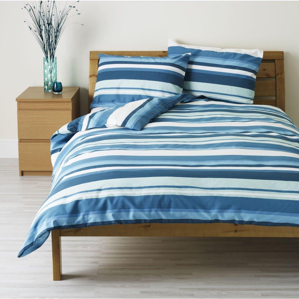 Blue Stripe Duvet Cover Home Furniture Design