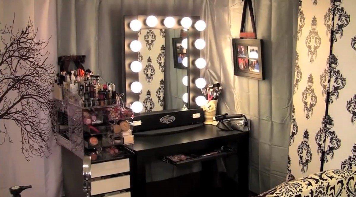 Broadway Lighted Vanity Makeup Desk Home Furniture Design