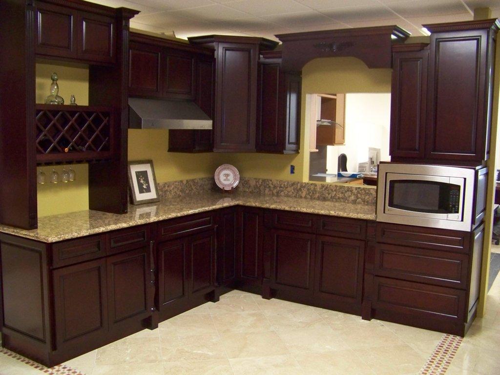 Cherry Color Cabinets - Home Furniture Design