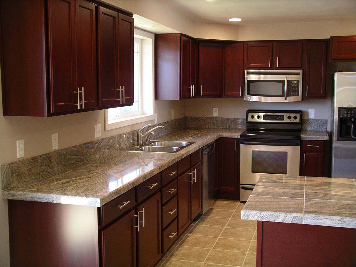 Dark Cherry Cabinets with Granite Countertops - Home ... on Maple Kitchen Cabinets With Black Granite Countertops  id=37017