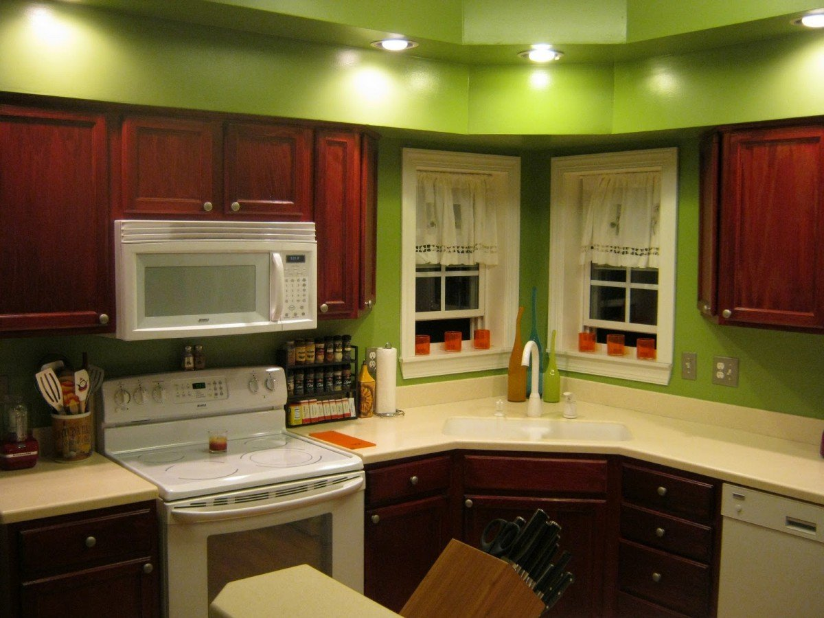 Kitchen Wall Colors with Cherry Cabinets - Home Furniture ...