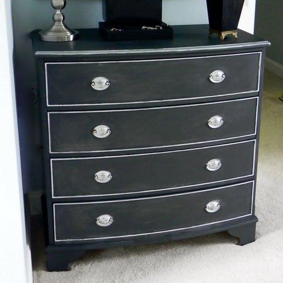Home Design Ideas Blackboard: Painting A Dresser Black