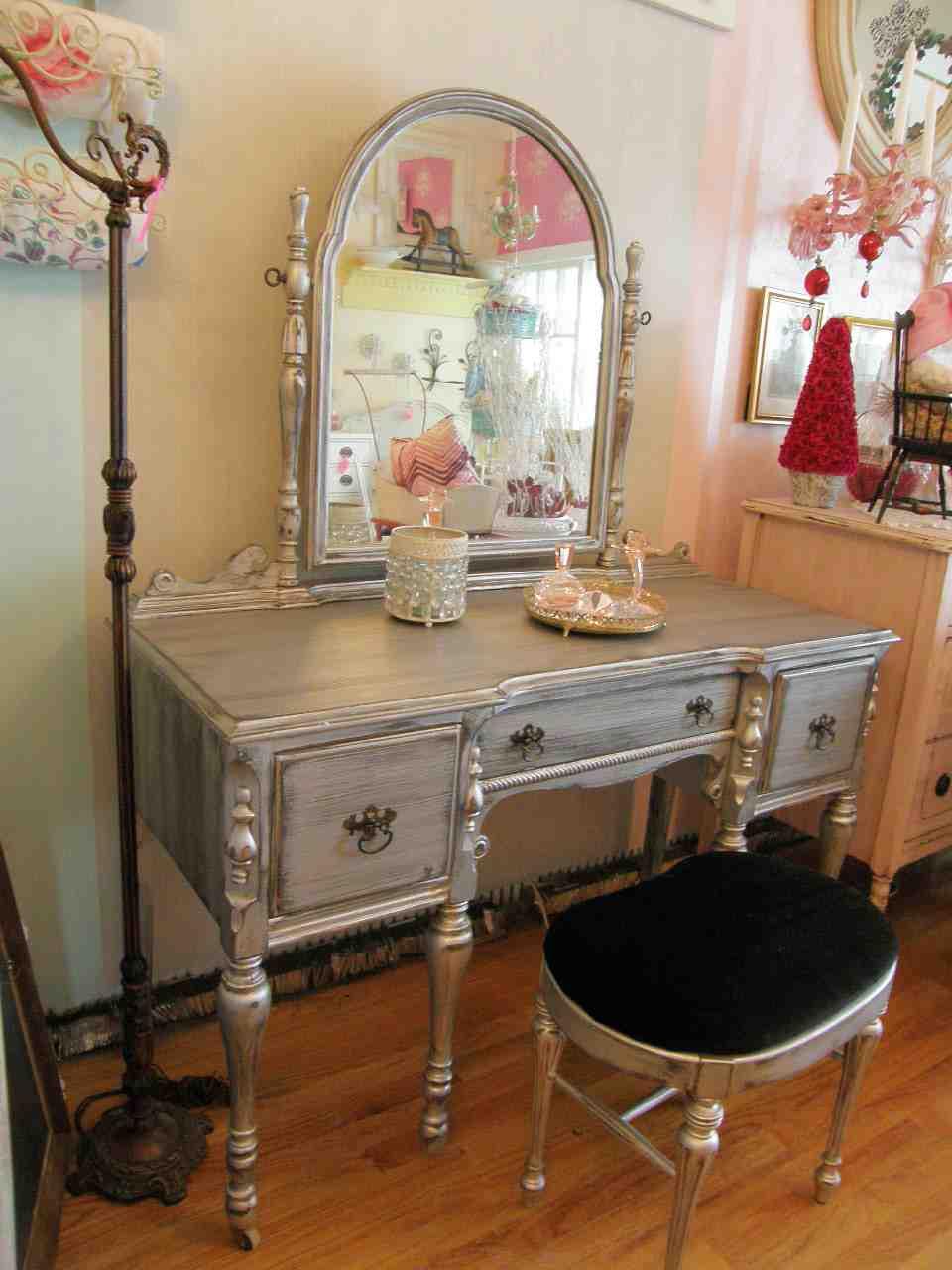Antique Vanity Dresser with Mirror - Home Furniture Design