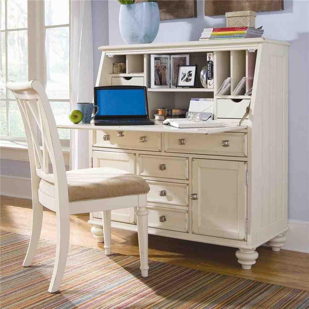 Drop Secretary Desk Home Furniture Design White Secretary Desk Design
