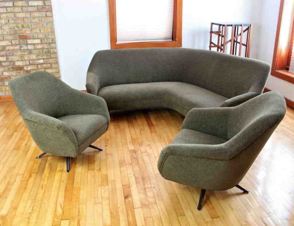 small curved sofa