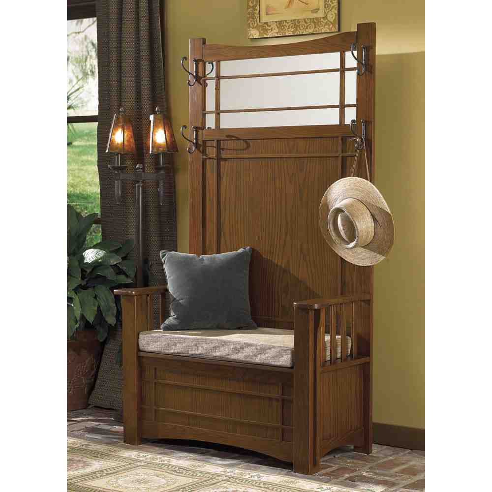 Entryway Hall Tree With Storage Bench Home Furniture Design