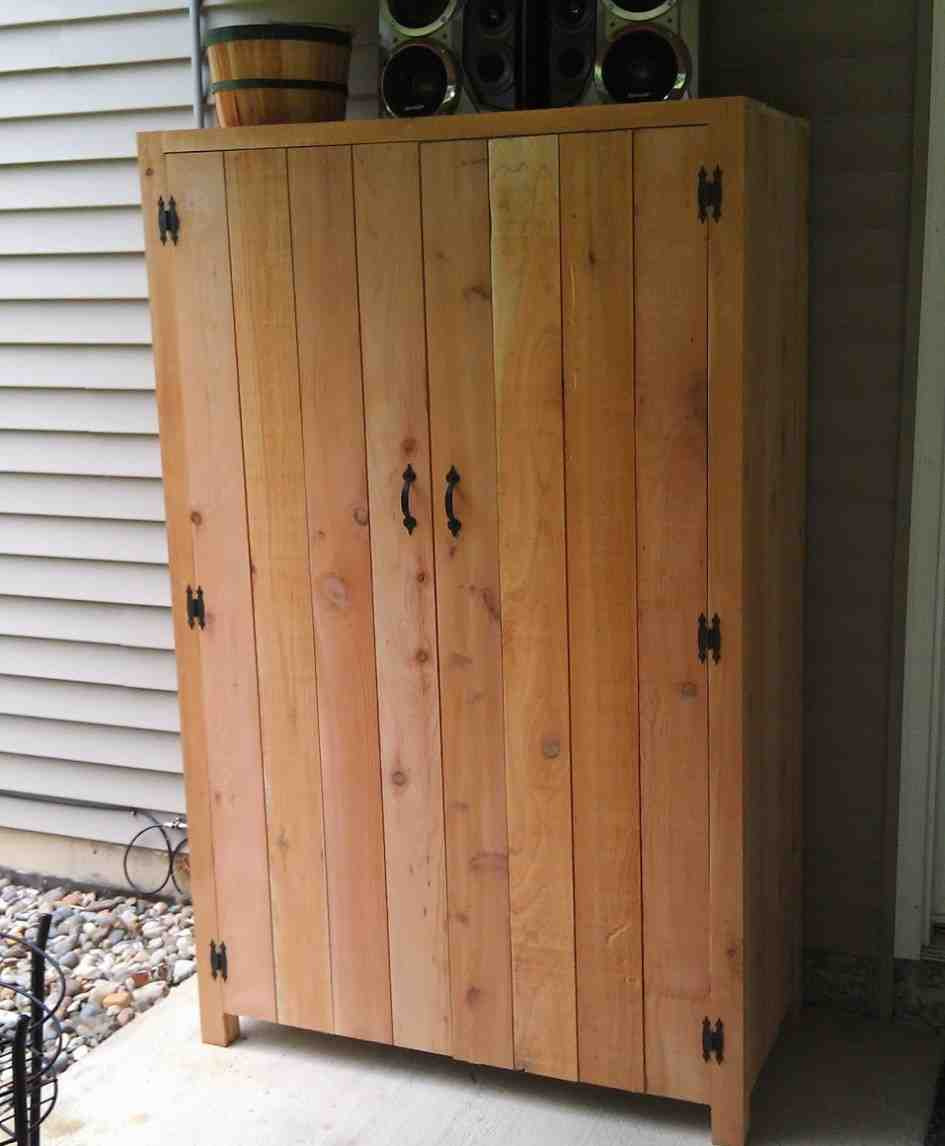 Outdoor Wood Cabinets: Home Furniture Design