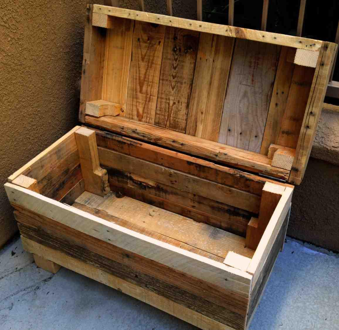 Pallet Storage Bench Home Furniture Design