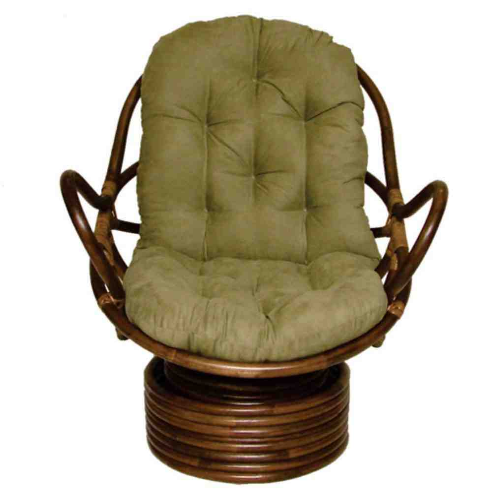 Papasan Swivel Rocker Chair Cushion Home Furniture Design