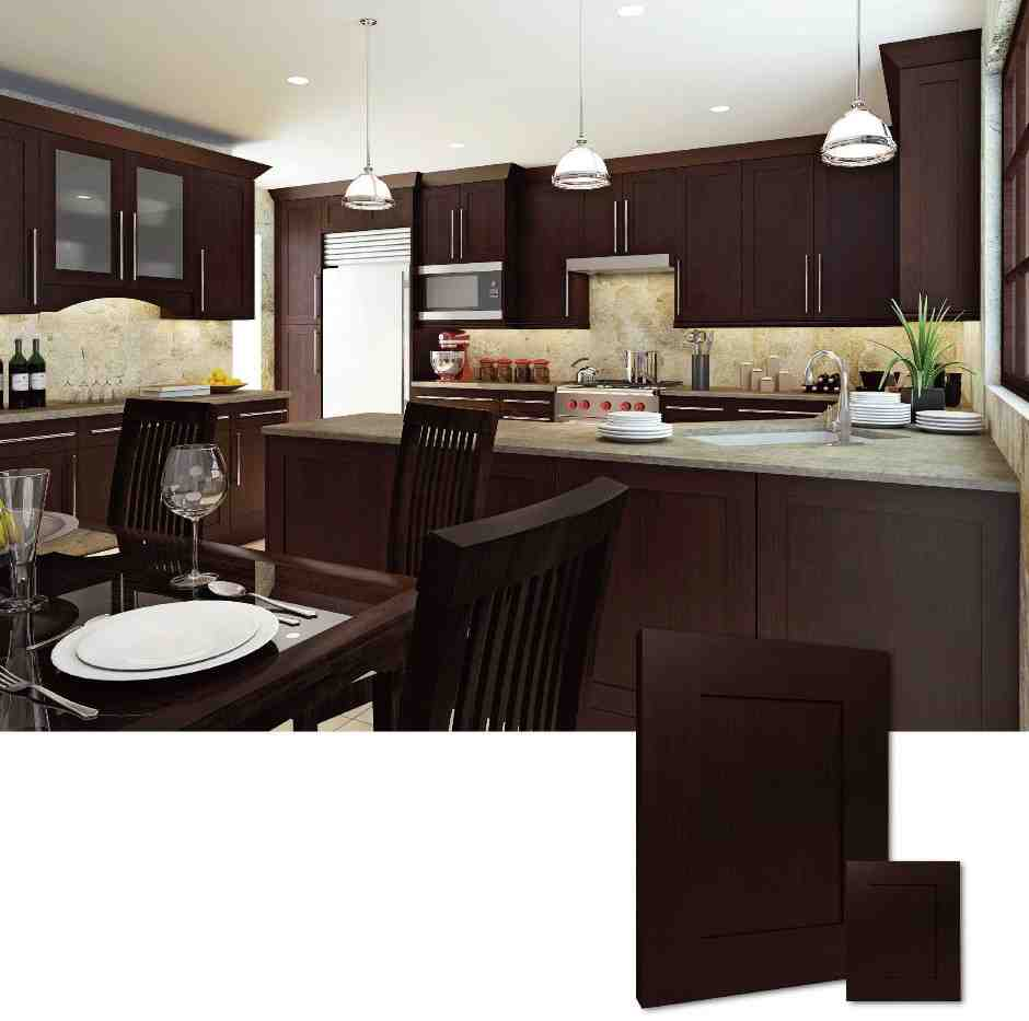 kitchens with espresso cabinets rta shaker cabinets home furniture design 6616