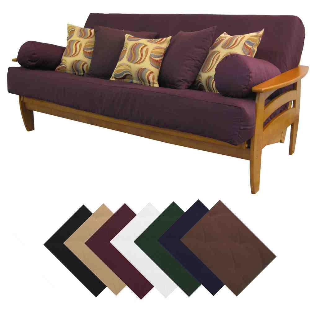 Suede Futon Cover Home Furniture Design