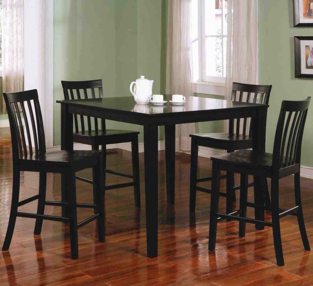 Black Counter Height Dining Table and Chairs - Home ...