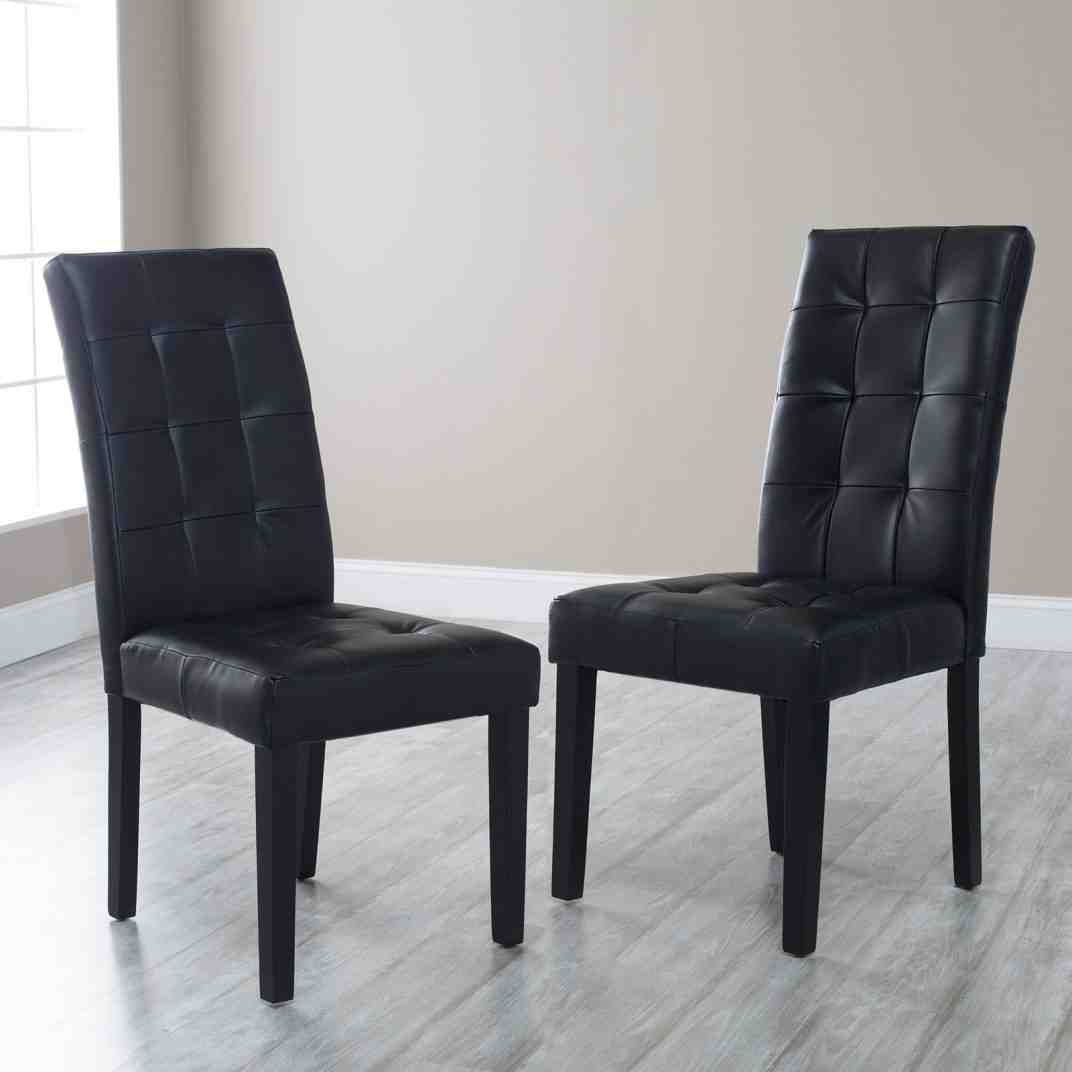 Black Tufted Dining Chairs - Home Furniture Design