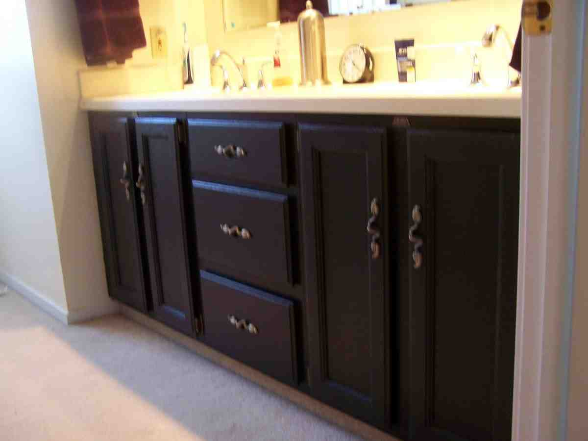 painting wood bathroom cabinets painted bathroom cabinets ideas home furniture design 24556