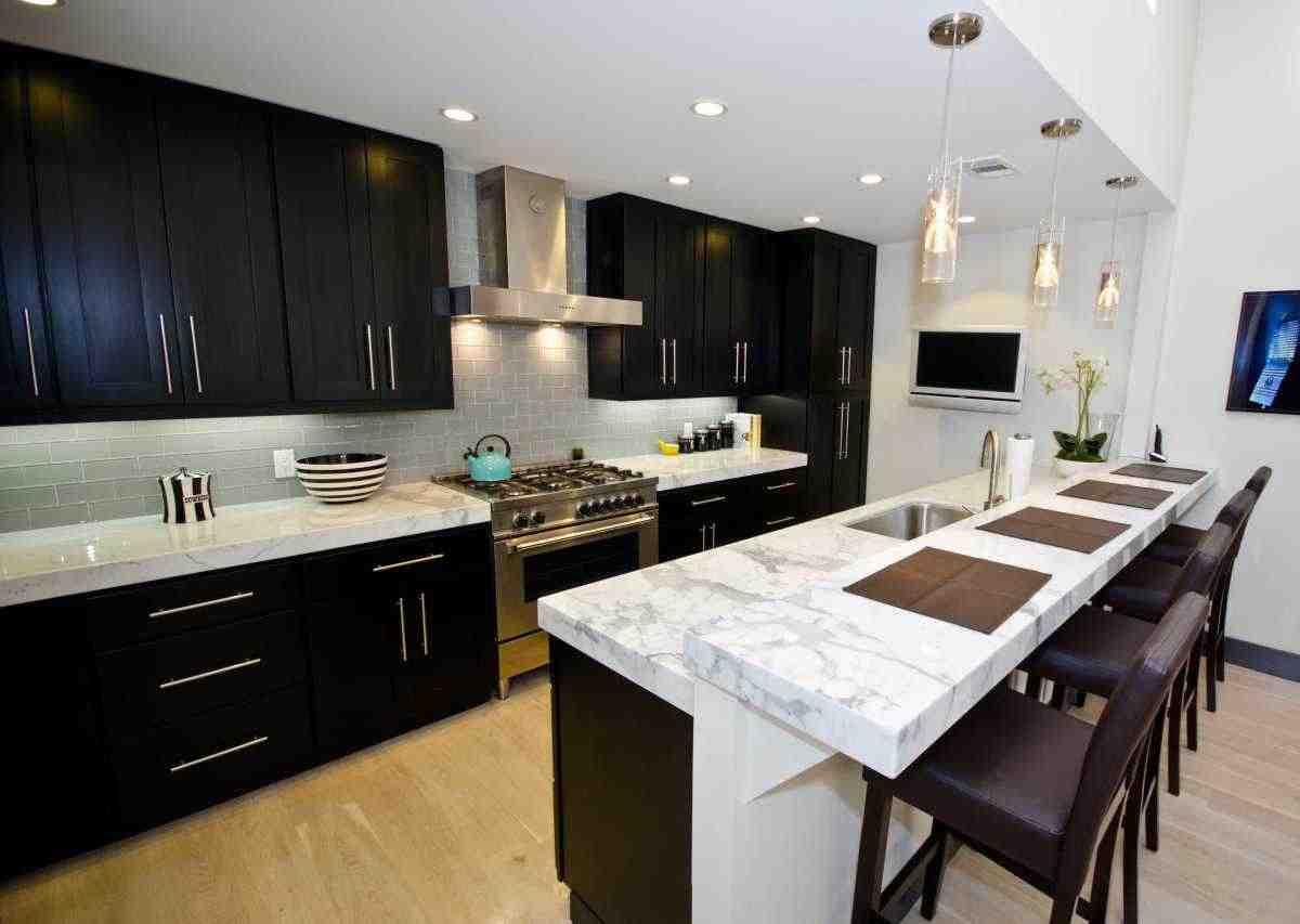 Espresso Colored Kitchen Cabinets - Home Furniture Design