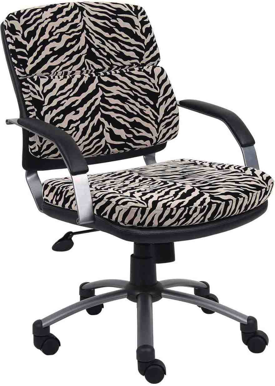 Zebra Print Desk Chair Home Furniture Design