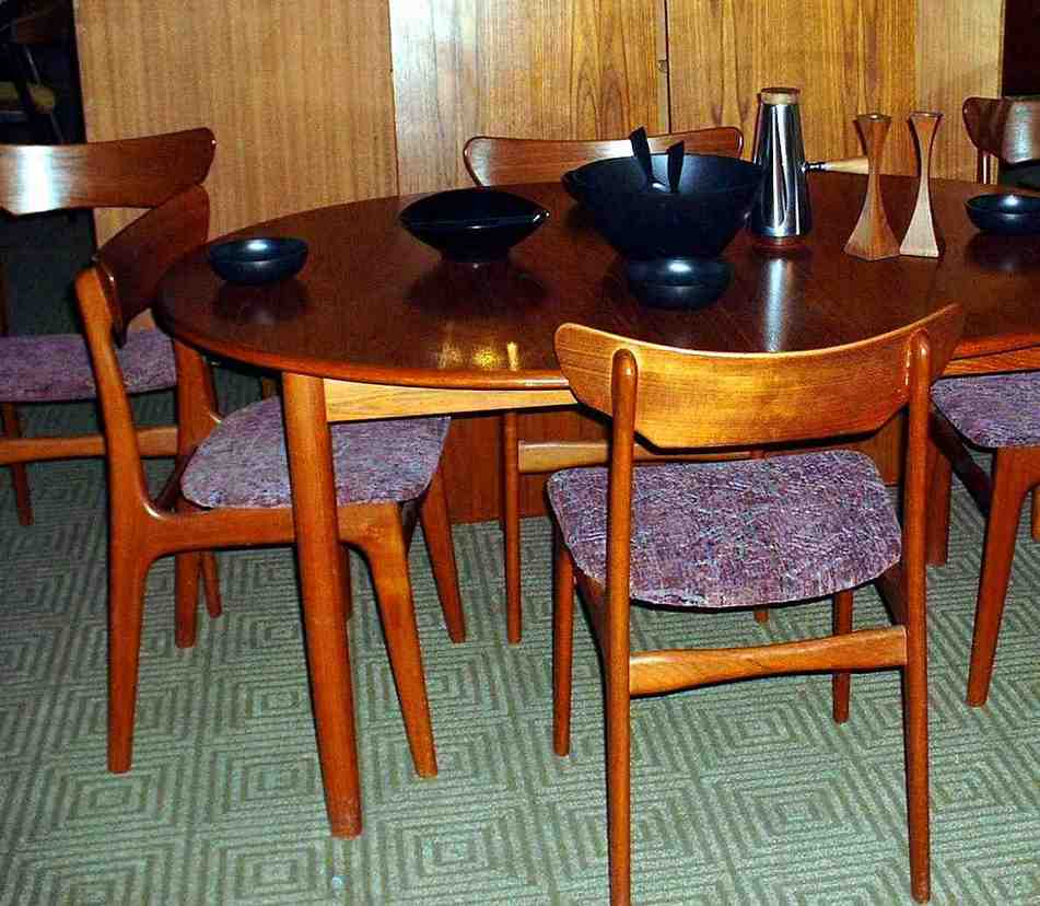 Teak Dining Table and Chairs - Home Furniture Design