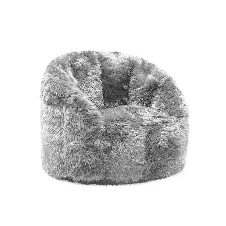 Furry Bean Bag Chair Home Furniture Design