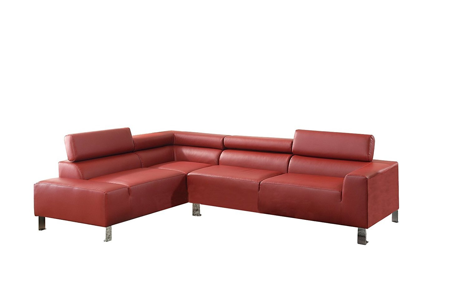 red sectional sofa with chaise 2