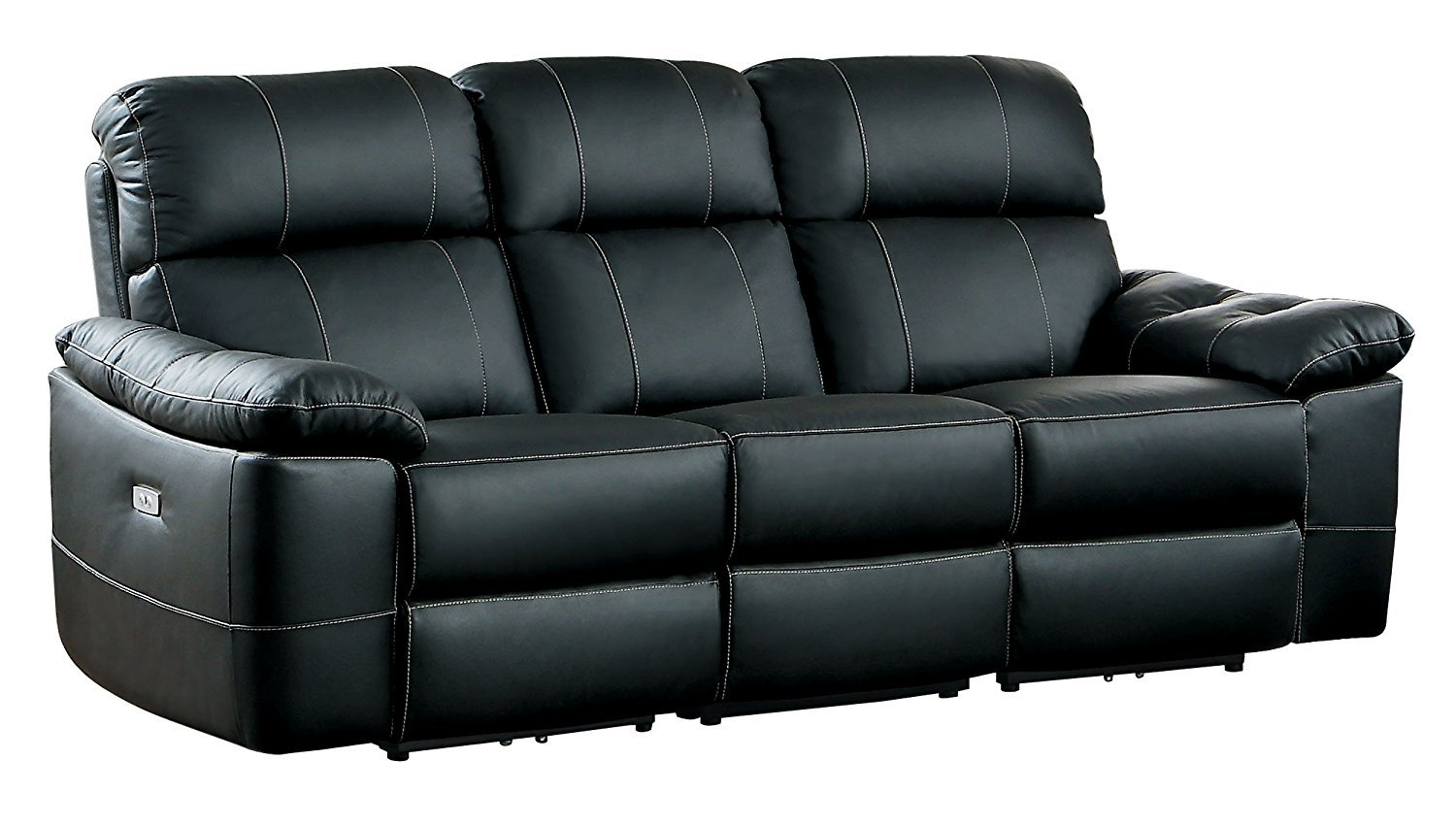Homelegance Nicasio Contemporary All Genuine Leather Power ...