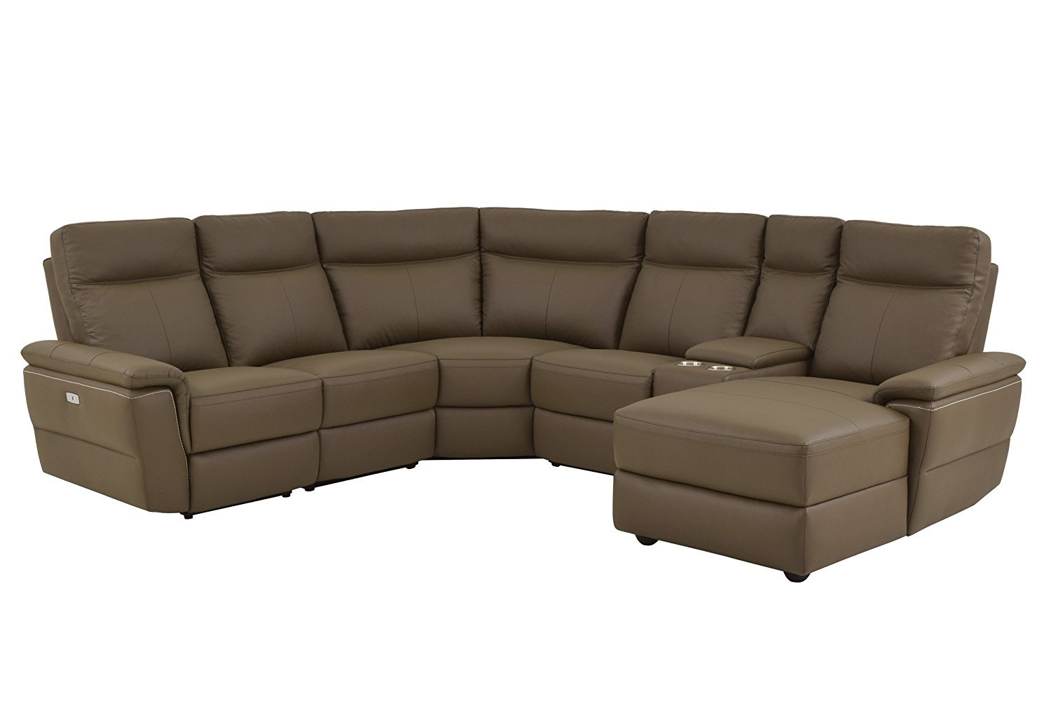 homelegance olympia 6 piece power reclining sectional sofa 2