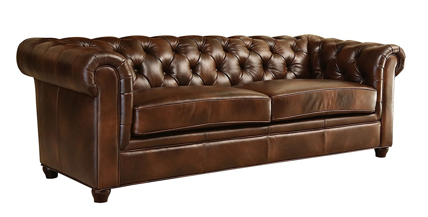 tufted leather couch - Home Furniture Design
