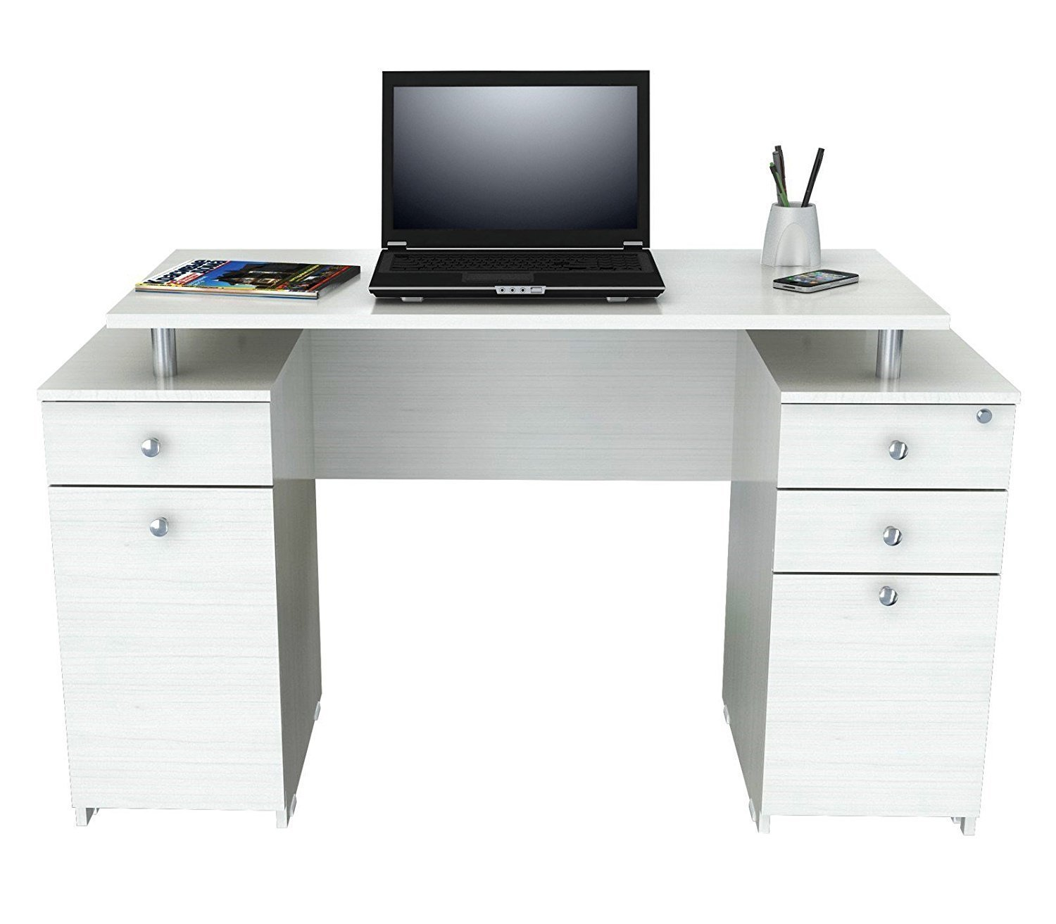26 Interesting Living Room Décor Ideas Definitive Guide: Girls White Desk With Hutch