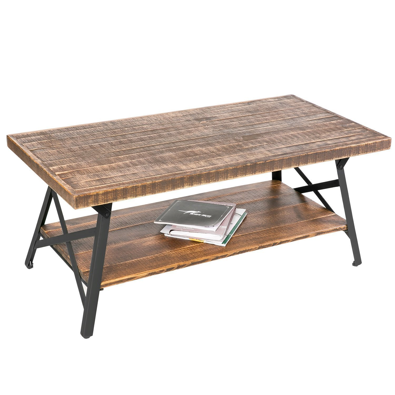 26 Interesting Living Room Décor Ideas Definitive Guide: HarperBright Designs 43 Wood Coffee Table